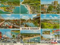 "<span class=""caption-caption"">Gold Coast, Australia's 'Riviera'</span>, c1961. <br />Postcard folder by <span class=""caption-publisher"">Kruger</span>, collection of <span class=""caption-contributor"">John Young</span>."