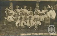 "<span class=""caption-caption"">Irvinebank Model Band</span>, 1908. <br />Postcard by <span class=""caption-publisher"">Unknown Publisher</span>, collection of <span class=""caption-contributor"">John Young</span>."