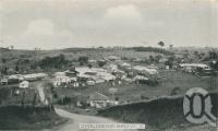 """<span class=""""caption-caption"""">Overlooking Maleny</span>, c1938. <br />Postcard folder by <span class=""""caption-publisher"""">Murray Views Pty Ltd</span>, collection of <span class=""""caption-contributor"""">John Young</span>."""
