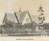 "<span class=""caption-caption"">English Church, Mackay</span>, c1908. <br />Postcard folder by <span class=""caption-publisher"">GC Wood</span>, collection of <span class=""caption-contributor"">John Young</span>."