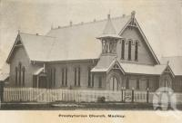 "<span class=""caption-caption"">Presbyterian Church, Mackay</span>, c1908. <br />Postcard folder by <span class=""caption-publisher"">GC Wood</span>, collection of <span class=""caption-contributor"">John Young</span>."