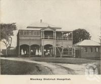 "<span class=""caption-caption"">Mackay district hospital</span>, c1908. <br />Postcard folder by <span class=""caption-publisher"">GC Wood</span>, collection of <span class=""caption-contributor"">John Young</span>."
