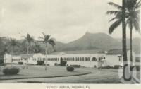 "<span class=""caption-caption"">District hospital, Mossman</span>, c1958. <br />Postcard folder by <span class=""caption-publisher"">Murray Views Pty Ltd</span>, collection of <span class=""caption-contributor"">John Young</span>."