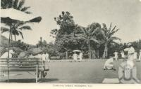 "<span class=""caption-caption"">Bowling green, Mossman</span>, c1958. <br />Postcard folder by <span class=""caption-publisher"">Murray Views Pty Ltd</span>, collection of <span class=""caption-contributor"">John Young</span>."