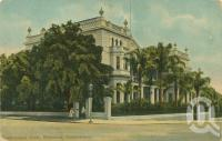 "<span class=""caption-caption"">Queensland Club, Brisbane</span>, c1910. <br />Postcard by <span class=""caption-publisher"">Coloured Shell Series</span>, collection of <span class=""caption-contributor"">Centre for the Government of Queensland</span>."