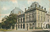 "<span class=""caption-caption"">Parliament House, Brisbane</span>, c1908. <br />Postcard by <span class=""caption-publisher"">Coloured Shell Series</span>, collection of <span class=""caption-contributor"">Centre for the Government of Queensland</span>."