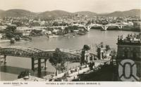 "<span class=""caption-caption"">Victoria and Grey Street Bridges, Brisbane</span>, c1934. <br />Postcard by <span class=""caption-publisher"">Sidues Series</span>, collection of <span class=""caption-contributor"">Centre for the Government of Queensland</span>."