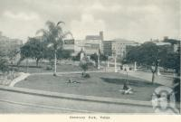 "<span class=""caption-caption"">Centenary Park, Valley</span>, c1938. <br />Postcard folder by <span class=""caption-publisher"">Sydney G Hughes Pty Ltd</span>, collection of <span class=""caption-contributor"">Centre for the Government of Queensland</span>."