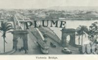"<span class=""caption-caption"">Victoria Bridge, Brisbane</span>, c1938. <br />Postcard folder by <span class=""caption-publisher"">Sydney G Hughes Pty Ltd</span>, collection of <span class=""caption-contributor"">Centre for the Government of Queensland</span>."
