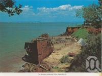 """<span class=""""caption-caption"""">The wrecks at Woody Point, Redcliffe</span>, c1965. <br />Postcard by <span class=""""caption-publisher"""">Murray Views Pty Ltd</span>, collection of <span class=""""caption-contributor"""">Centre for the Government of Queensland</span>."""