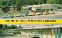 "<span class=""caption-caption"">Reef Motor-Hotel Noosa Heads</span>, c1962. <br />Postcard by <span class=""caption-publisher"">Unknown Publisher</span>, collection of <span class=""caption-contributor"">Centre for the Government of Queensland</span>."