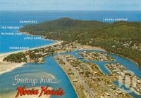 "<span class=""caption-caption"">Noosa Heads</span>, 1982. <br />Postcard by <span class=""caption-publisher"">Bernard Kuskopf</span>, collection of <span class=""caption-contributor"">Centre for the Government of Queensland</span>."