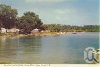 "<span class=""caption-caption"">Camping Reserve Beach, Noosa River, Noosa Heads</span>, c1959. <br />Postcard folder by <span class=""caption-publisher"">Murray Views Pty Ltd</span>, collection of <span class=""caption-contributor"">Centre for the Government of Queensland</span>."