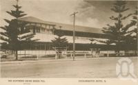 """<span class=""""caption-caption"""">Coolangatta Hotel. Message on the postcard from Joe to his mother on 28 September 1944 reads in part: 'This is where I stayed while on furlough. Evidently this picture was taken before the Red Cross took over the Hotel because the name is no longer on it</span>, 1944. <br />Postcard by <span class=""""caption-publisher"""">Southern Cross Series</span>, collection of <span class=""""caption-contributor"""">Centre for the Government of Queensland</span>."""