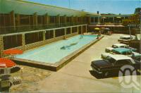 """<span class=""""caption-caption"""">The Beachcomber Motor Lodge, Coolangatta</span>, c1964. <br />Postcard by <span class=""""caption-publisher"""">Murfett Publishers Pty Ltd</span>, collection of <span class=""""caption-contributor"""">Centre for the Government of Queensland</span>."""