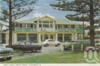 """<span class=""""caption-caption"""">Beach House, Marine Parade, Coolangatta</span>, 1962. <br />Postcard folder by <span class=""""caption-publisher"""">Murray Views Pty Ltd</span>, collection of <span class=""""caption-contributor"""">Centre for the Government of Queensland</span>."""