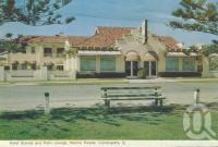 """<span class=""""caption-caption"""">Hotel Grande and Palm Lounge, Marine Parade, Coolangatta</span>, 1962. <br />Postcard folder by <span class=""""caption-publisher"""">Murray Views Pty Ltd</span>, collection of <span class=""""caption-contributor"""">Centre for the Government of Queensland</span>."""