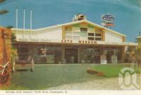 """<span class=""""caption-caption"""">Gilltraps Auto Museum, North Kirra, Coolangatta</span>, 1962. <br />Postcard folder by <span class=""""caption-publisher"""">Murray Views Pty Ltd</span>, collection of <span class=""""caption-contributor"""">Centre for the Government of Queensland</span>."""