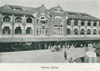 "<span class=""caption-caption"">Railway Station, Townsville</span>, 1935. <br />Booklet by <span class=""caption-publisher"">Unknown Publisher</span>, collection of <span class=""caption-contributor"">Centre for the Government of Queensland</span>."