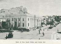 "<span class=""caption-caption"">Bank of NSW and Castle Hill, Townsville</span>, 1935. <br />Booklet by <span class=""caption-publisher"">Unknown Publisher</span>, collection of <span class=""caption-contributor"">Centre for the Government of Queensland</span>."