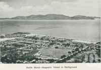 "<span class=""caption-caption"">North Ward - Magnetic Island in the background, Townsville</span>, 1935. <br />Booklet by <span class=""caption-publisher"">Unknown Publisher</span>, collection of <span class=""caption-contributor"">Centre for the Government of Queensland</span>."
