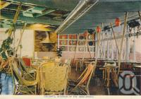 "<span class=""caption-caption"">Colourful interior at the Boolarong, Alexandra Headland</span>, c1958. <br />Postcard folder by <span class=""caption-publisher"">Sydney G Hughes Pty Ltd</span>, collection of <span class=""caption-contributor"">Centre for the Government of Queensland</span>."