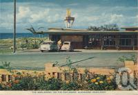 "<span class=""caption-caption"">The Boolarong on the Esplanade, Alexandra Headlands</span>, c1958. <br />Postcard folder by <span class=""caption-publisher"">Sydney G Hughes Pty Ltd</span>, collection of <span class=""caption-contributor"">Centre for the Government of Queensland</span>."