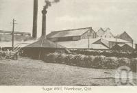 "<span class=""caption-caption"">Sugar mill, Nambour</span>, c1960. <br />Postcard folder by <span class=""caption-publisher"">Murray Views Pty Ltd</span>, collection of <span class=""caption-contributor"">Centre for the Government of Queensland</span>."