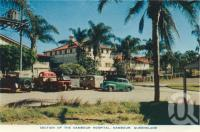 "<span class=""caption-caption"">Nambour hospital, Nambour</span>, c1958. <br />Postcard folder by <span class=""caption-publisher"">Sydney G Hughes Pty Ltd</span>, collection of <span class=""caption-contributor"">Centre for the Government of Queensland</span>."