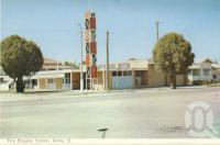 """<span class=""""caption-caption"""">Fire brigade station, Roma</span>, c1962. <br />Postcard folder by <span class=""""caption-publisher"""">Murray Views Pty Ltd</span>, collection of <span class=""""caption-contributor"""">Centre for the Government of Queensland</span>."""