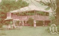 """<span class=""""caption-caption"""">Crystal Waters Tourist Resort, Redlynch</span>, c1955. <br />Postcard by <span class=""""caption-publisher"""">GK Bolton</span>, collection of <span class=""""caption-contributor"""">Centre for the Government of Queensland</span>."""