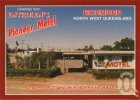 "<span class=""caption-caption"">Entriken's Pioneer Motel, Richmond</span>, c1970. <br />Postcard by <span class=""caption-publisher"">ICP</span>, collection of <span class=""caption-contributor"">Centre for the Government of Queensland</span>."