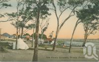 """<span class=""""caption-caption"""">The picnic grounds, Woody Point</span>, c1913. <br />Postcard by <span class=""""caption-publisher"""">Retrac Series</span>, collection of <span class=""""caption-contributor"""">Centre for the Government of Queensland</span>."""
