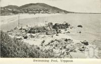 "<span class=""caption-caption"">Swimming pool, Yeppoon</span>, c1938. <br />Postcard folder by <span class=""caption-publisher"">Unknown Publisher</span>, collection of <span class=""caption-contributor"">Centre for the Government of Queensland</span>."