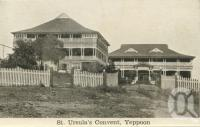 "<span class=""caption-caption"">St Ursula's Convent, Yeppoon</span>, c1938. <br />Postcard folder by <span class=""caption-publisher"">Unknown Publisher</span>, collection of <span class=""caption-contributor"">Centre for the Government of Queensland</span>."