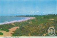 "<span class=""caption-caption"">Fisherman's Beach, Emu Park</span>, 1965. <br />Postcard folder by <span class=""caption-publisher"">Murray Views Pty Ltd</span>, collection of <span class=""caption-contributor"">Centre for the Government of Queensland</span>."