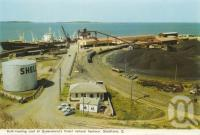 "<span class=""caption-caption"">Bulk loading at Queensland's finest natural harbour, Gladstone</span>, c1960. <br />Postcard folder by <span class=""caption-publisher"">Murray Views Pty Ltd</span>, collection of <span class=""caption-contributor"">Centre for the Government of Queensland</span>."