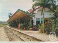 "<span class=""caption-caption"">The exotic fern lined Kuranda Railway Station</span>, c1962. <br />Postcard folder by <span class=""caption-publisher"">Unknown Publisher</span>, collection of <span class=""caption-contributor"">Centre for the Government of Queensland</span>."