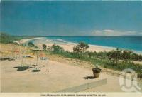 "<span class=""caption-caption"">View from Hotel Stradbroke towards Moreton Island</span>, c1960. <br />Postcard folder by <span class=""caption-publisher"">Sydney G Hughes Pty Ltd</span>, collection of <span class=""caption-contributor"">Centre for the Government of Queensland</span>."
