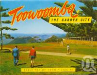"<span class=""caption-caption"">Table Top Mt from Picnic Point, Toowoomba</span>, c1965. <br />Postcard folder by <span class=""caption-publisher"">Murray Views Pty Ltd</span>, collection of <span class=""caption-contributor"">Centre for the Government of Queensland</span>."