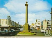 "<span class=""caption-caption"">Mothers' Memorial, Margaret Street, Toowoomba</span>, c1965. <br />Postcard folder by <span class=""caption-publisher"">Murray Views Pty Ltd</span>, collection of <span class=""caption-contributor"">Centre for the Government of Queensland</span>."