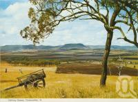 """<span class=""""caption-caption"""">Darling Downs, Toowoomba</span>, c1965. <br />Postcard folder by <span class=""""caption-publisher"""">Murray Views Pty Ltd</span>, collection of <span class=""""caption-contributor"""">Centre for the Government of Queensland</span>."""
