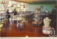 "<span class=""caption-caption"">Interior, Picnic Point Kiosk, Toowoomba</span>, c1960. <br />Postcard folder by <span class=""caption-publisher"">Murray Views Pty Ltd</span>, collection of <span class=""caption-contributor"">Centre for the Government of Queensland</span>."
