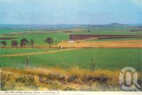 """<span class=""""caption-caption"""">The rich rolling Darling Downs, Toowoomba</span>, c1960. <br />Postcard folder by <span class=""""caption-publisher"""">Murray Views Pty Ltd</span>, collection of <span class=""""caption-contributor"""">Centre for the Government of Queensland</span>."""