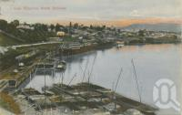 "<span class=""caption-caption"">Coal wharves, South Brisbane</span>, 1907. <br />Postcard by <span class=""caption-publisher"">Unknown Publisher</span>, collection of <span class=""caption-contributor"">Centre for the Government of Queensland</span>."