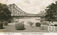"<span class=""caption-caption"">Charming aspect of Story Bridge, Brisbane</span>, c1948. <br />Postcard by <span class=""caption-publisher"">Sidues Series</span>, collection of <span class=""caption-contributor"">Centre for the Government of Queensland</span>."