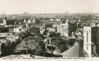 "<span class=""caption-caption"">Panorama from Wickham Terrace showing Story Bridge, Brisbane</span>, c1948. <br />Postcard by <span class=""caption-publisher"">Sidues Series</span>, collection of <span class=""caption-contributor"">Centre for the Government of Queensland</span>."