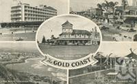 """<span class=""""caption-caption"""">The Gold Coast</span>, 1958. <br />Postcard by <span class=""""caption-publisher"""">Brookman</span>, collection of <span class=""""caption-contributor"""">Centre for the Government of Queensland</span>."""
