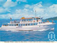 """<span class=""""caption-caption"""">Whitsunday Princess cruises from Shute Harbour to Hayman Island and islands of the Whitsunday Group</span>, 1975. <br />Postcard folder by <span class=""""caption-publisher"""">Murray Views Pty Ltd</span>, collection of <span class=""""caption-contributor"""">Centre for the Government of Queensland MS</span>."""