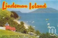 """<span class=""""caption-caption"""">Lindeman Island, Great Barrier Reef</span>, 1963. <br />Postcard folder by <span class=""""caption-publisher"""">Murray Views Pty Ltd</span>, collection of <span class=""""caption-contributor"""">Centre for the Government of Queensland MS</span>."""